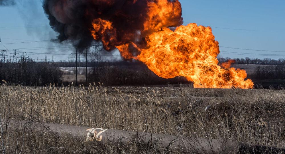 výbuch plynovodu