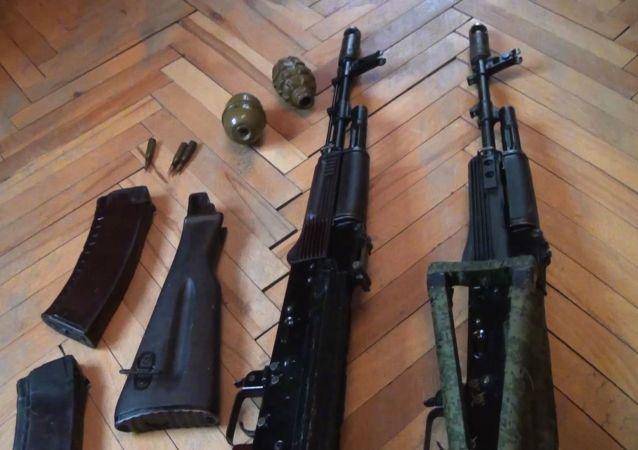 Zbraně zabavené FSB teroristům
