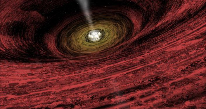 Umělecká podoba černé díry