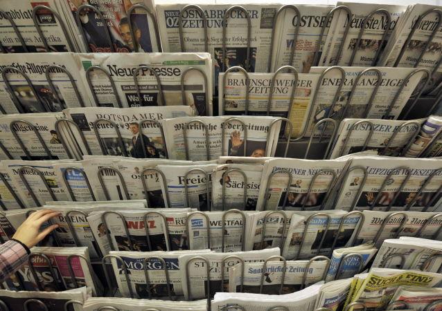 Novinový stánek v Berlíně