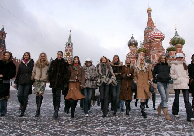 Krása v zimě na Rudém náměstí