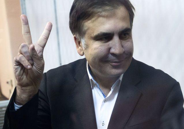 Gruzínský exprezident a bývalý gubernátor Oděské oblasti Michail Saakašvili