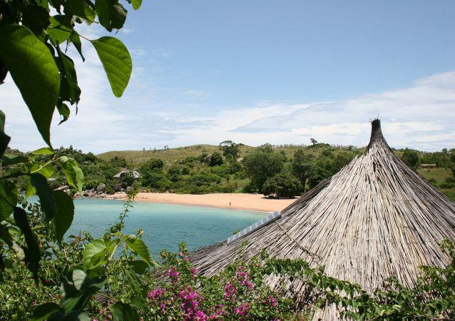 Malawi. Pláž
