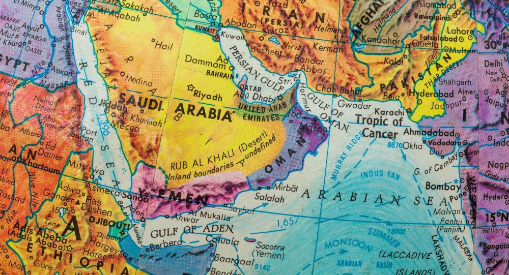 Mapa Blízkého východu. Ilustrační foto