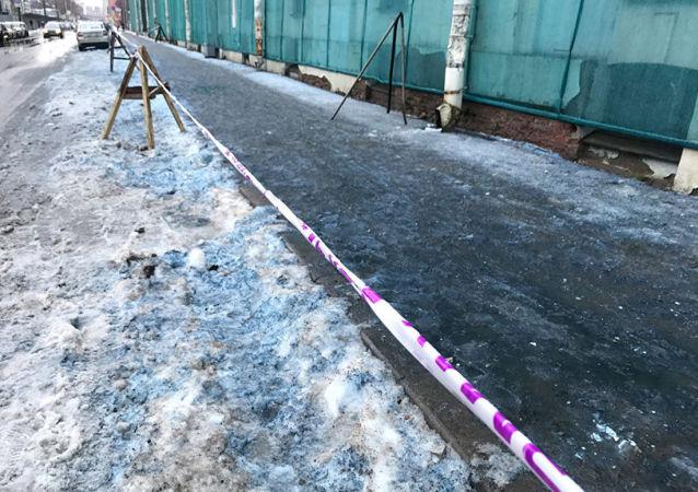Modrý sníh v Petrohradě