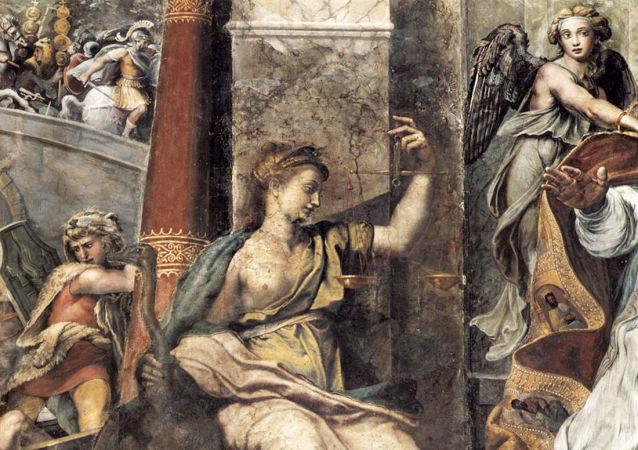 Obraz italského malíře Raffaela Santiho