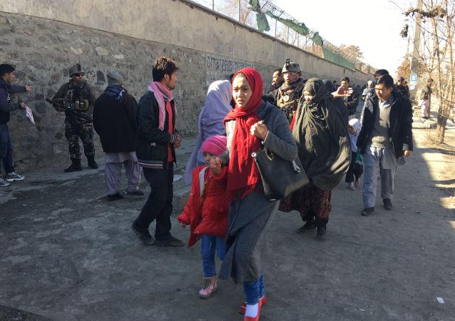 Místo teroristického útoku v Kábulu