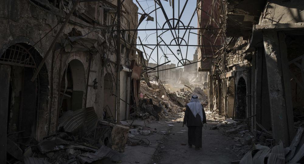 Zříceniny v Mosulu, Irák