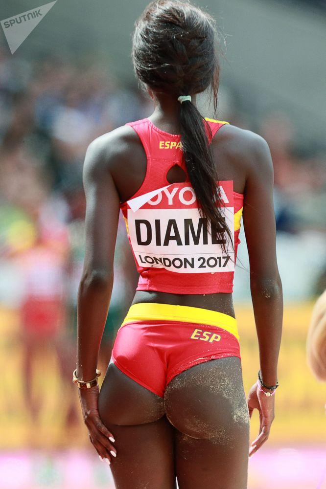 Španělská atletka Fátima Diame