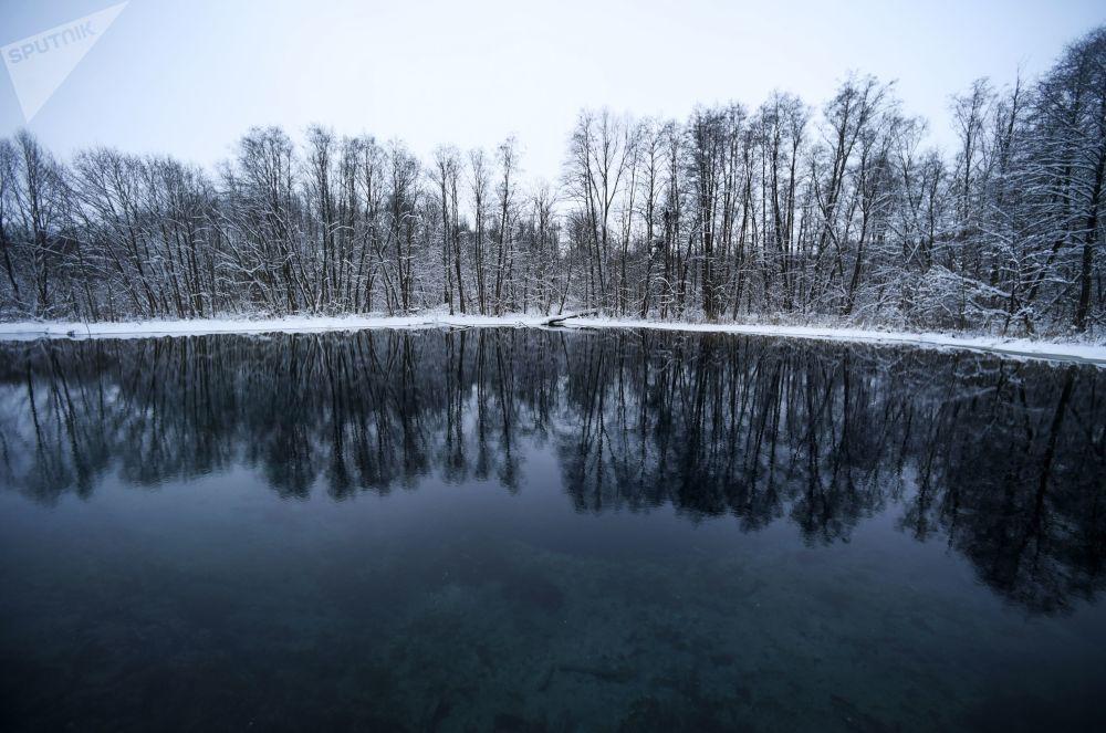 Okouzlující Modré jezero v ruské Kazani