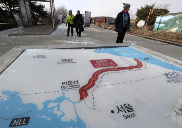 Mapa Severní a Jižní Korey