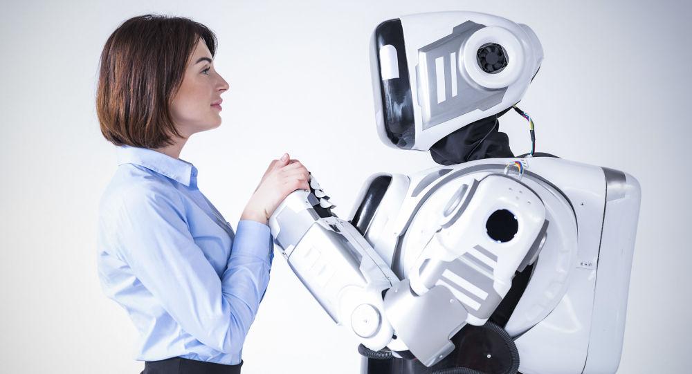 Žena s robotem