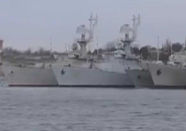 Žalostný stav: na webu se objevilo video s ukrajinskými loďmi na Krymu. Video