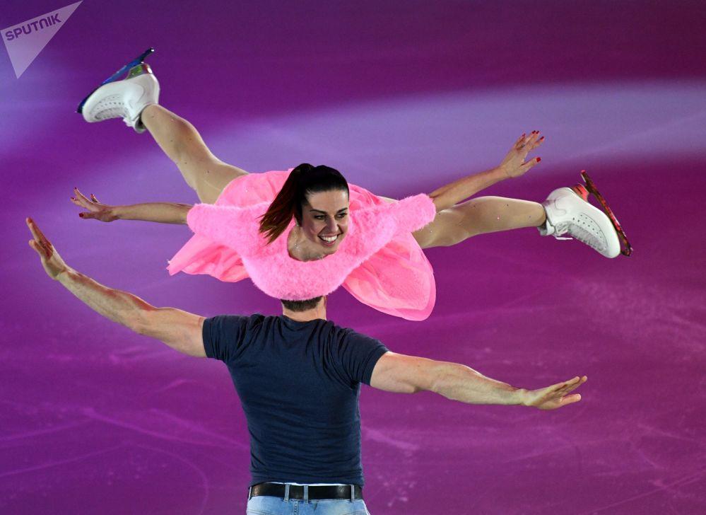 Exhibiční vystoupení na Mistrovství Evropy v krasobruslení v Moskvě