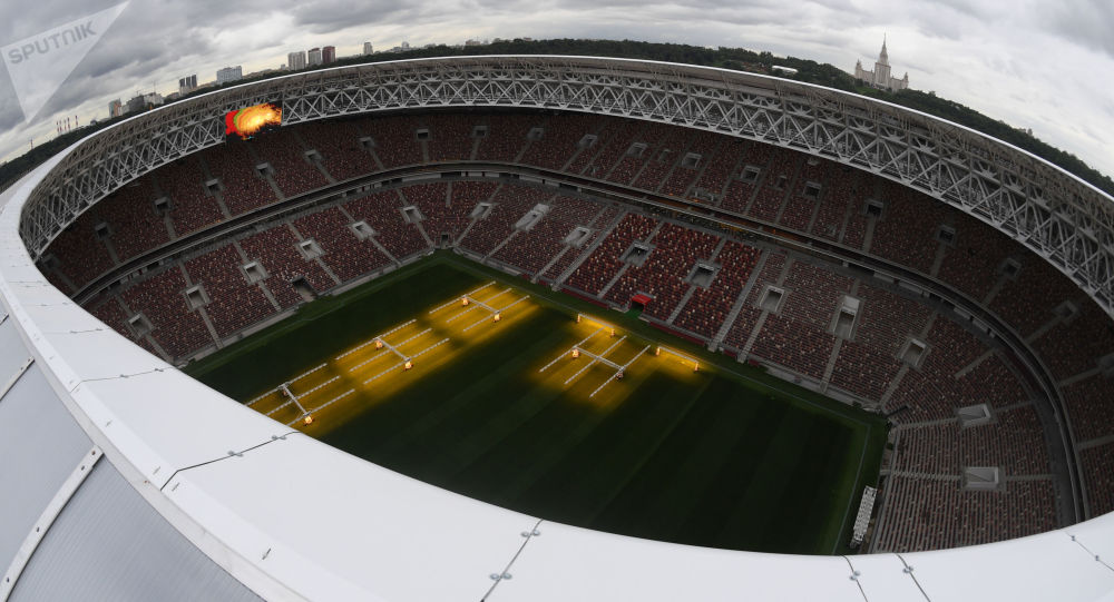 Fotbalový stadion Lužniky v Moskvě