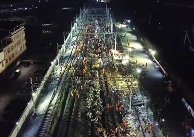Čína železnice 19-20 ledna 2018