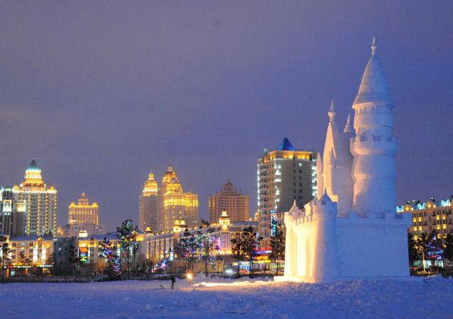 Zima v Číně