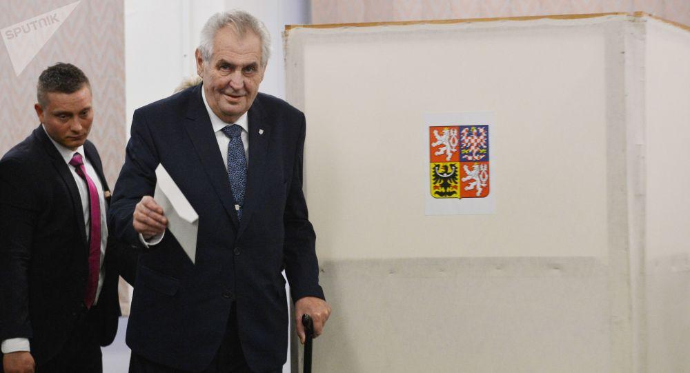 Miloš Zeman během voleb