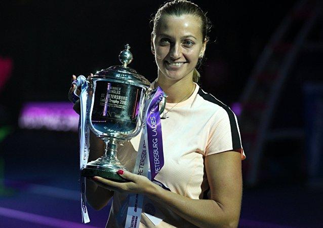 Petra Kvitová po finálovém zápase v Petrohradu