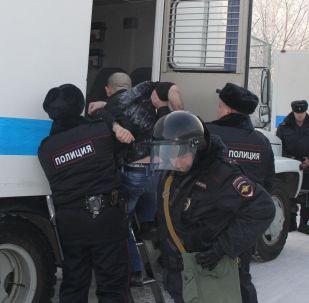Policie po vzpouře u Krasnojarsku
