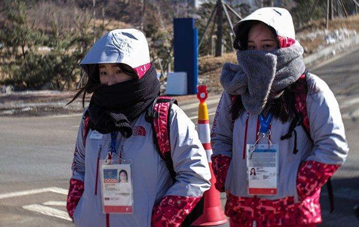 Dobrovolníci v Olympijském parku v Pchjongčchangu