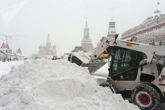 Sníh v Moskvě