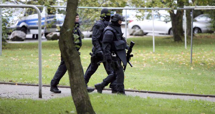 Němečtí policisté. Ilustrační foto