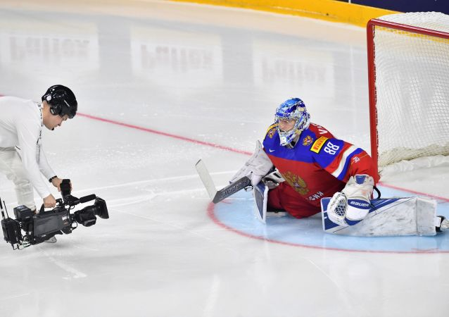Ruský brankář Andrej Vasilevskij