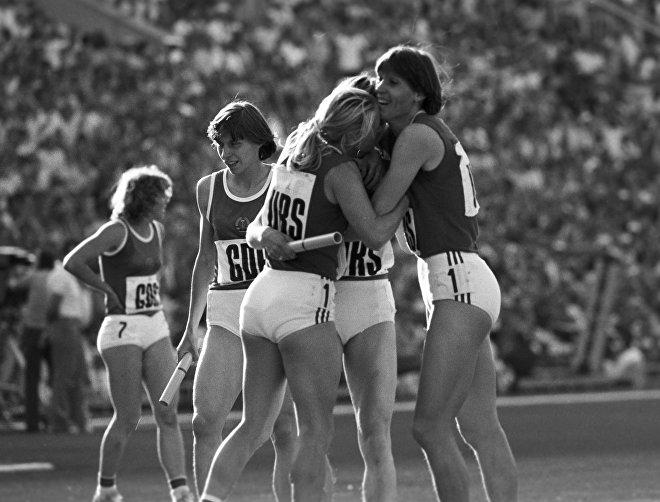 Sovětské sportovkyně, lehká atletika 1980