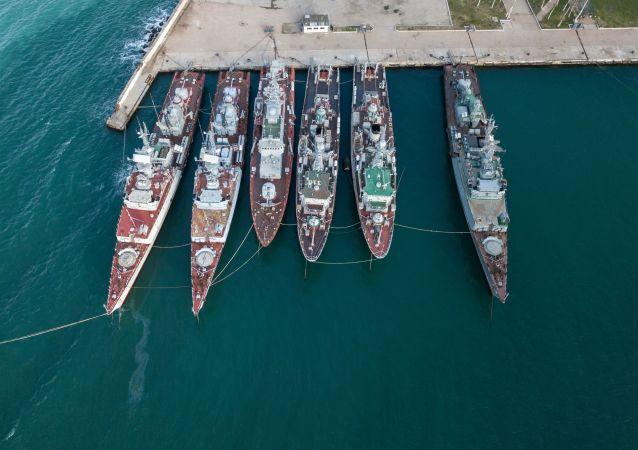 Ukrajinské vojenské lodě. Krym