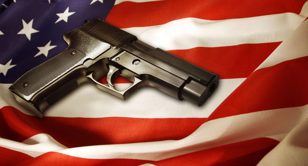Pistole na americké vlajce