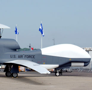 Výzvědný americký dron А RQ-4A Global Hawk