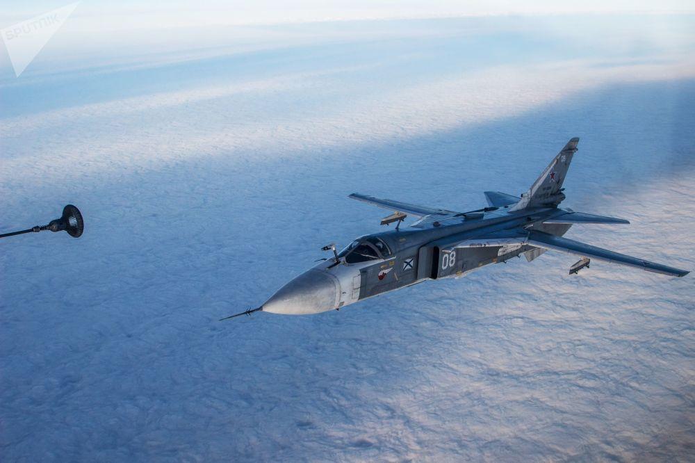 Letová taktická cvičení námořního letectva Černomořské flotily Ruska