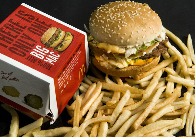 Big Mac a hranolky od restaurace McDonald's