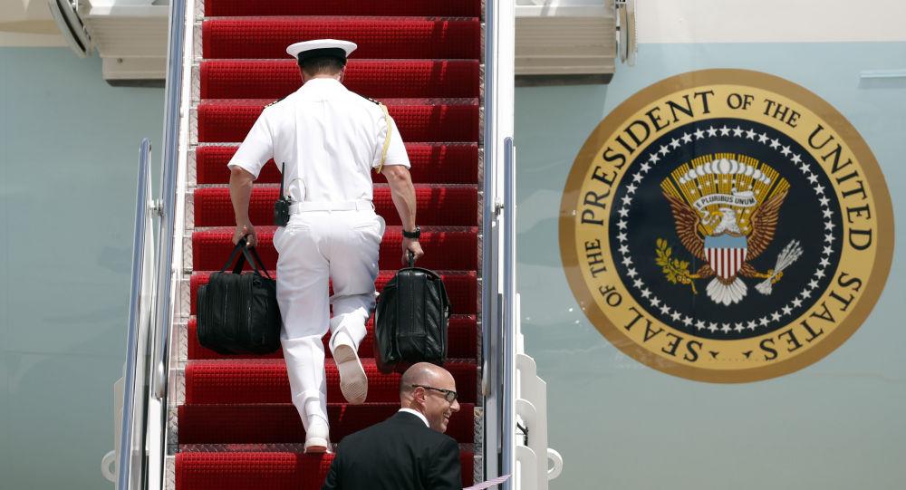 """Jaderný kufřík"" prezidenta USA Donalda Trumpa"