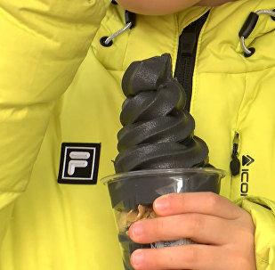 Černá zmrzlina