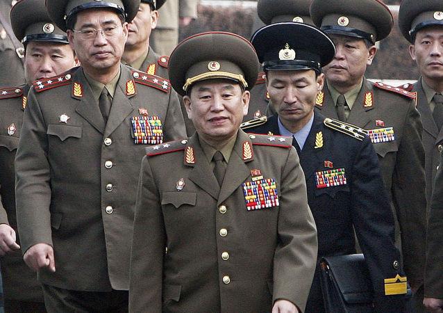 Vedoucí delegace KLDR, generál Kim Jong-čchol