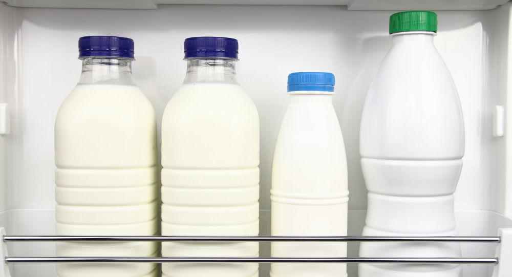 Mléko v ledničce