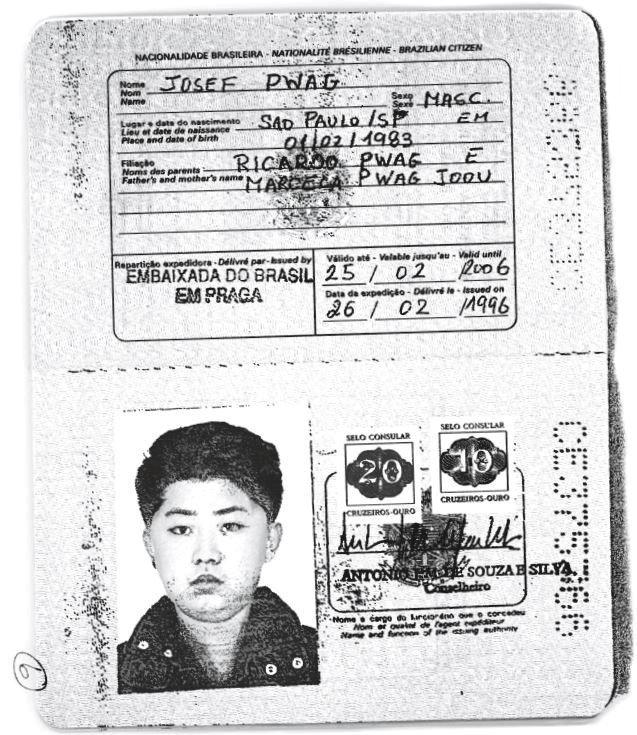Falešný pas Kim Čong-una