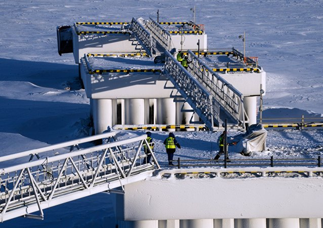 Budování podniku na výrobu zkapalněného plynu Jamal SPG. Ilustrační foto