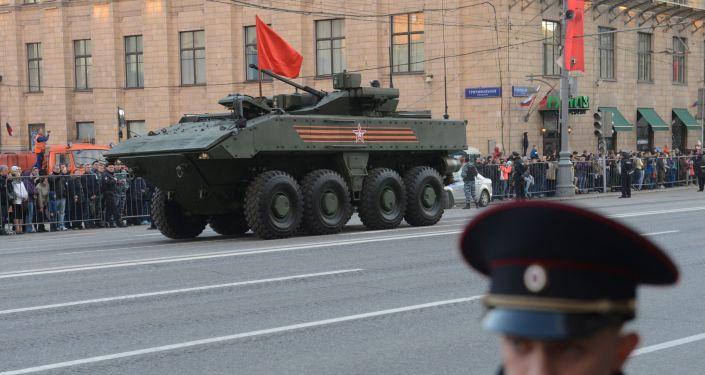 Obrněné vozidlo na kolovém podvazku Bumerang