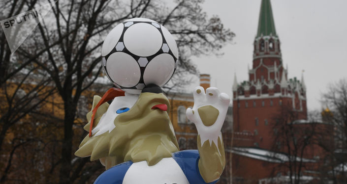 Maskot Zabivaka v Moskvě