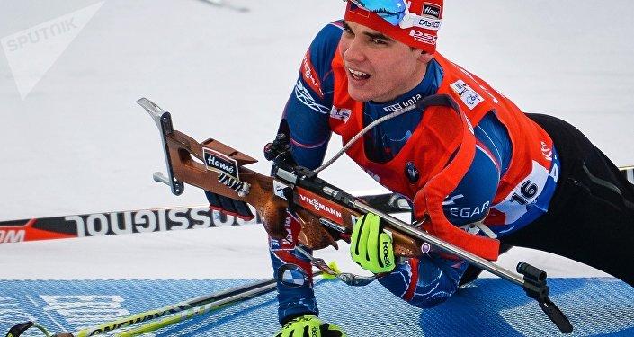 Michal Krčmář při sprintu v Chanty-Mansijsku