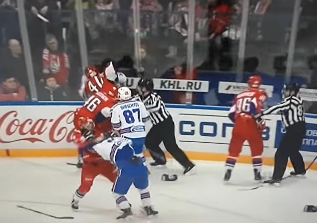 Hromadná bitka v KHL