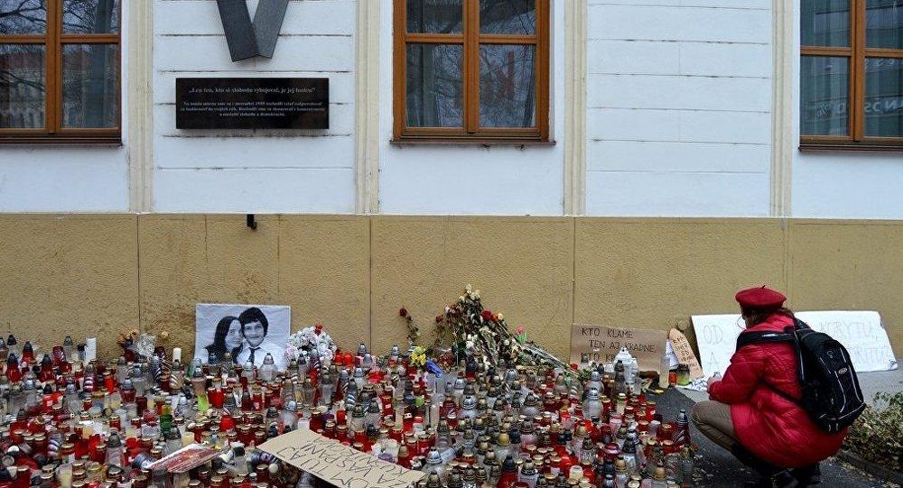 Uctění památky Jána Kuciaka a jeho snoubenky. Ilustrační foto