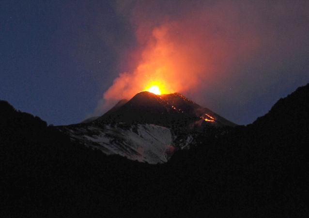 Vulkán Etna