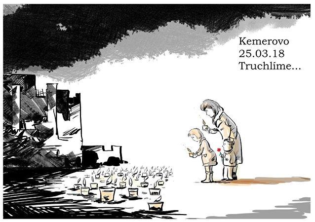 Smutek v souvislosti s tragédií v Kemerovu