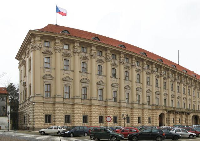 Černínský palác, Loretánské náměstí 5, Praha. Sídlo Ministerstva zahraničních věcí České republiky