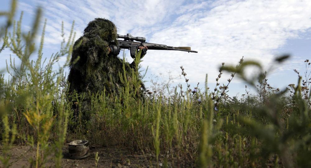 Ukrajinský odstřelovač v Luhanské oblasti