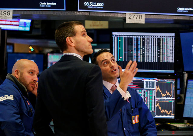 Tradeři na burze v New Yorku